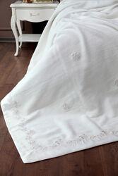 HOME SWEET HOME - ALYSSIA-2 BATTANIYE KREM-PEMBE 225x245cm