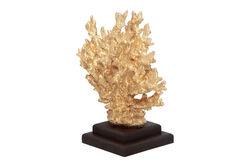 KERVAN - DEKORATIF KUCUK MERCAN GOLD 25x25 cm