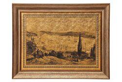KERVAN - KRV-033 55x75cm ALTIN ISTANBUL DUVAR PANOSU