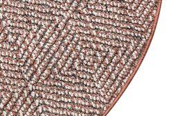 LINQ 7426D HALI GRI-KREM YUVARLAK 100cm - Thumbnail
