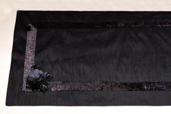 PERONTE RUNNER SIYAH 40x140cm