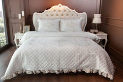 HOME SWEET HOME - SENTOSA KAPITONELI YATAK ORT.KREM CK.270x270cm 3 PRC