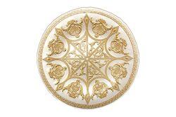 SYON TABAK BEYAZ+GOLD 21.5x2.5cm(10750) - Thumbnail