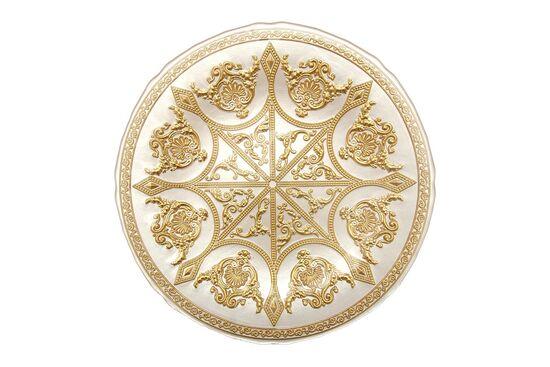 SYON TABAK BEYAZ+GOLD 21.5x2.5cm(10750)