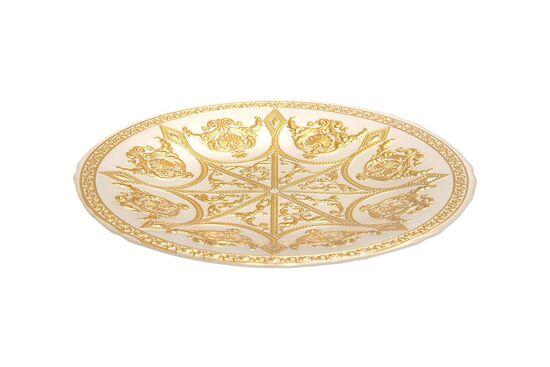SYON TABAK BEYAZ+GOLD 28.5x2.5cm(10752)