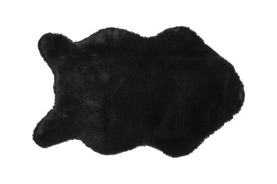 TAVSAN TUYU HALI 90X150 BLACK(POST KESIM)
